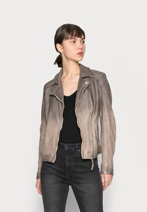 KANDY LAMOV - Leather jacket - taupe