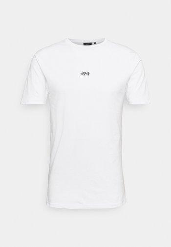 FLORAL BACK PRINT TEE - Print T-shirt - white