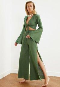 Trendyol - SET - Trousers - green - 0