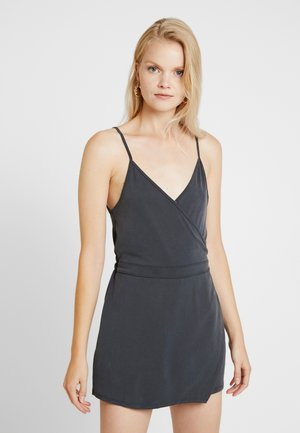 WRAP SKORT ROMPER - Jumpsuit - dark gray