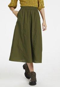 Gestuz - CASSIAGZ  - A-line skirt - dark olive - 0