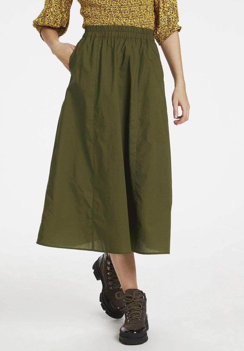 Gestuz - CASSIAGZ  - A-line skirt - dark olive