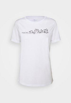 CURRENT MOOD PRINTED - Camiseta estampada - white