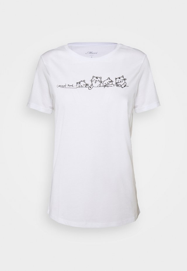 CURRENT MOOD PRINTED - T-shirt con stampa - white