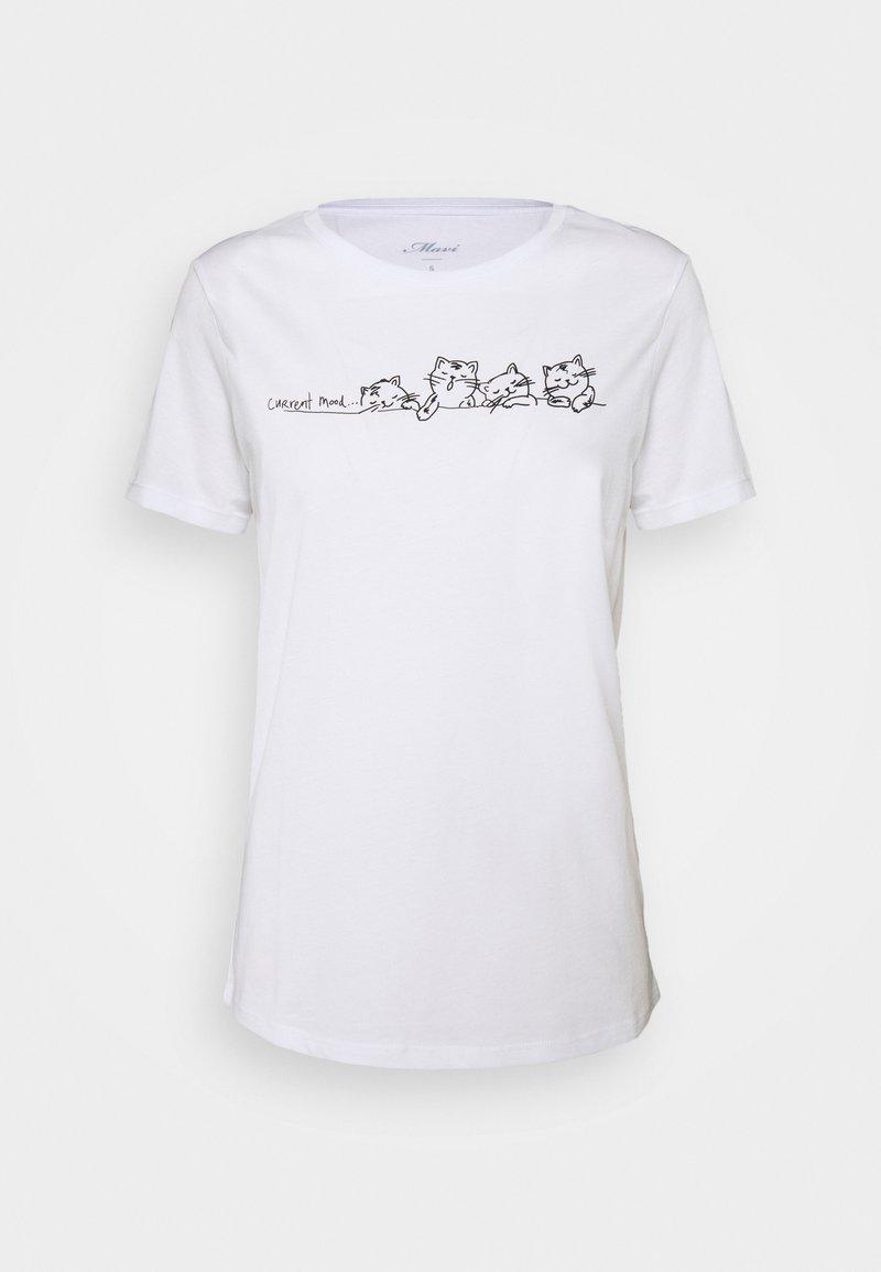 Mavi - CURRENT MOOD PRINTED - T-shirts med print - white