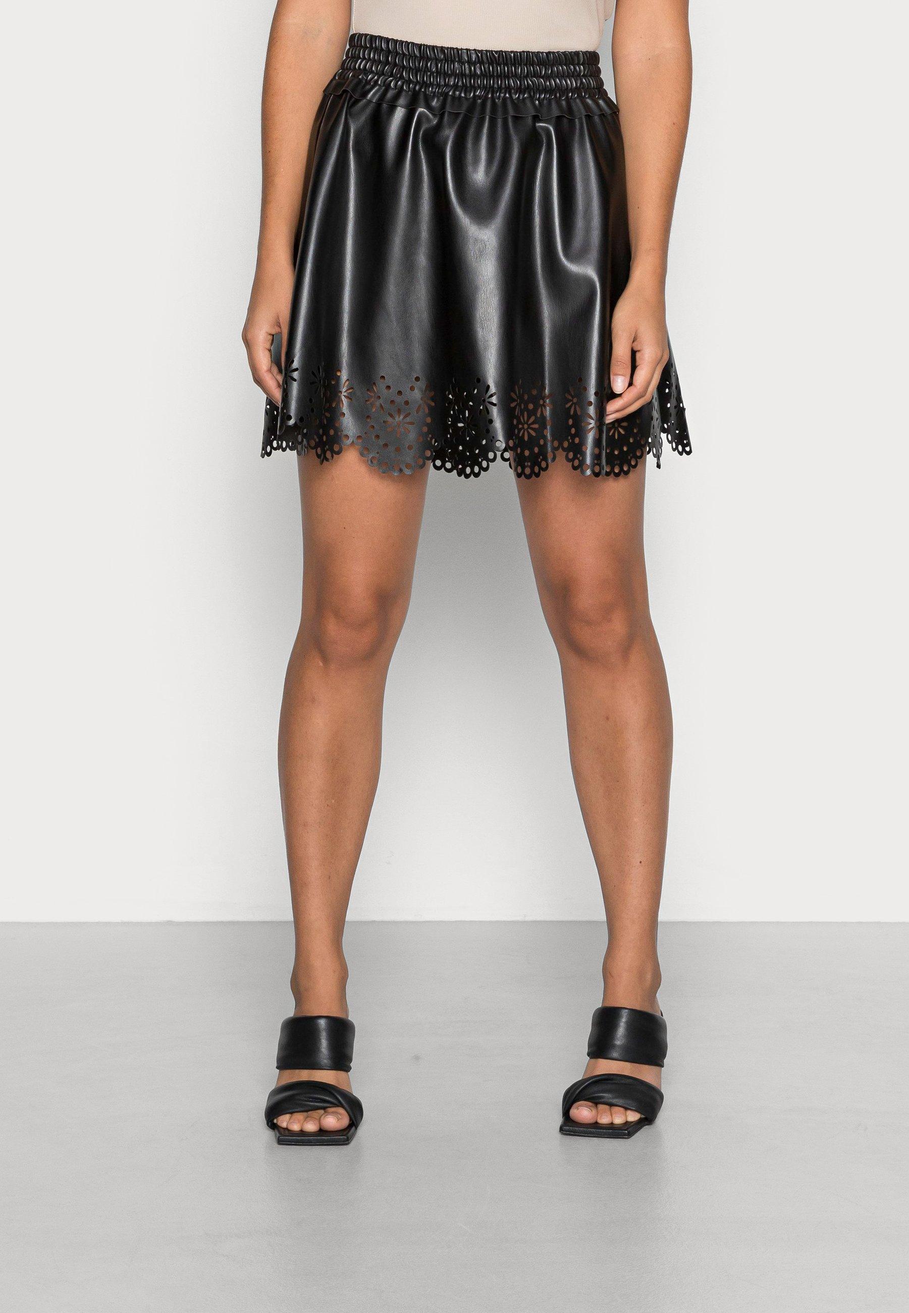 Femme VMSOLAHAILEY SHORT COATED SKIRT - Minijupe