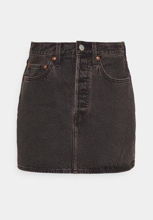 RIBCAGE SKIRT - Mini skirts  - washed noir black