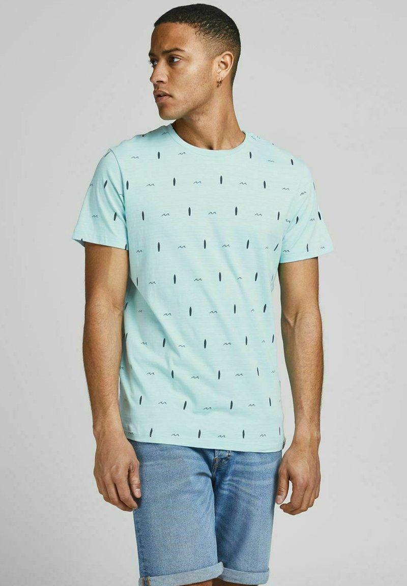 Jack & Jones - Print T-shirt - light blue