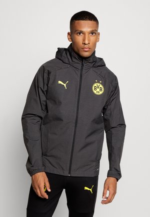 BVB BORUSSIA DORTMUND RAIN JACKET - Club wear - asphalt/cyber yellow