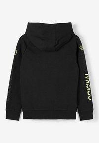 Name it - MIT REISSVERSCHLUSS PRINT - Zip-up hoodie - black - 1