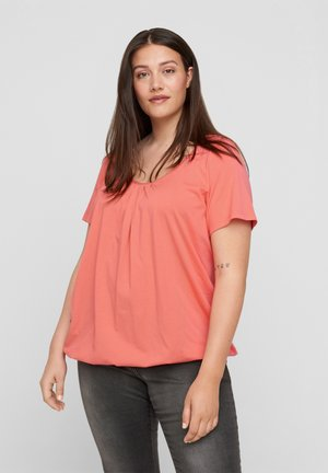 Blouse - living coral