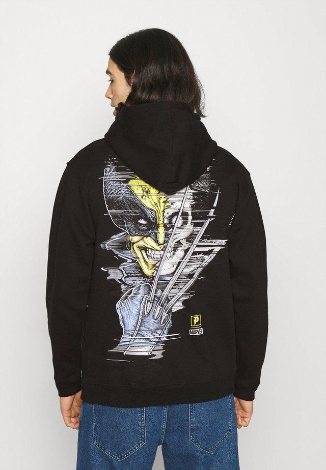 WOLVERINE HOOD - Sweatshirt - black