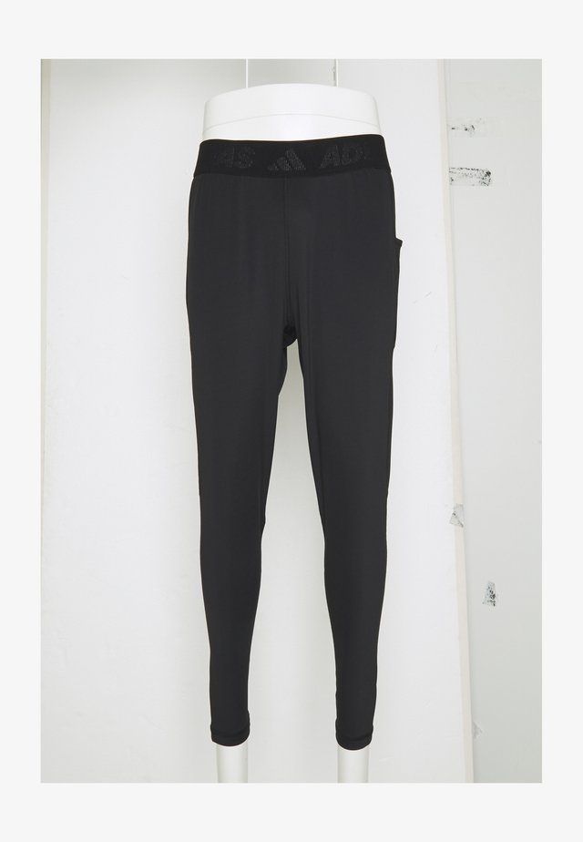 BAR - Tracksuit bottoms - black/white