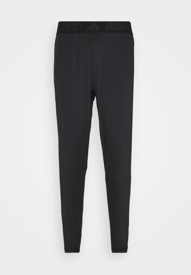 BAR - Teplákové kalhoty - black/white