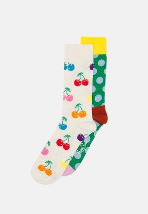STRIPE DOT CHERRY SOCK UNISEX 2 PACK - Socks - multi