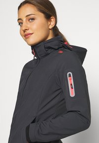 CMP - WOMAN JACKET ZIP HOOD - Soft shell jacket - antracite/red fluor - 5