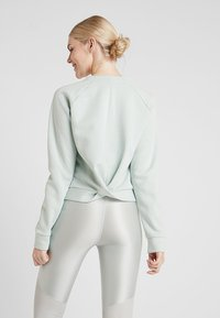 Under Armour - RECOVERY SCRIPT CREW - Sweater - green medium heather/onyx white - 2
