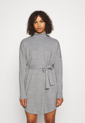 NMCITY AVA SHORT DRESS - Gebreide jurk - medium grey melange