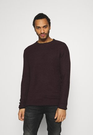 Jumper - red wine/jet black