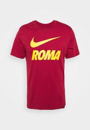 AS ROM TEE GROUND - Klubové oblečení - team crimson