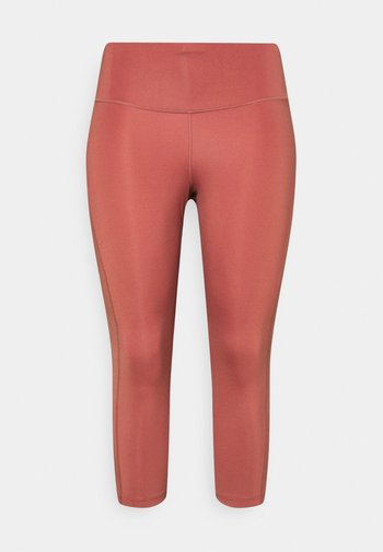 FAST CROP PLUS - Leggings - canyon rust/reflective silver