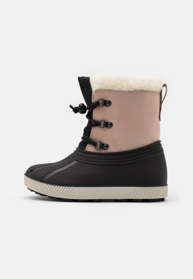 Winter boots - beige/black