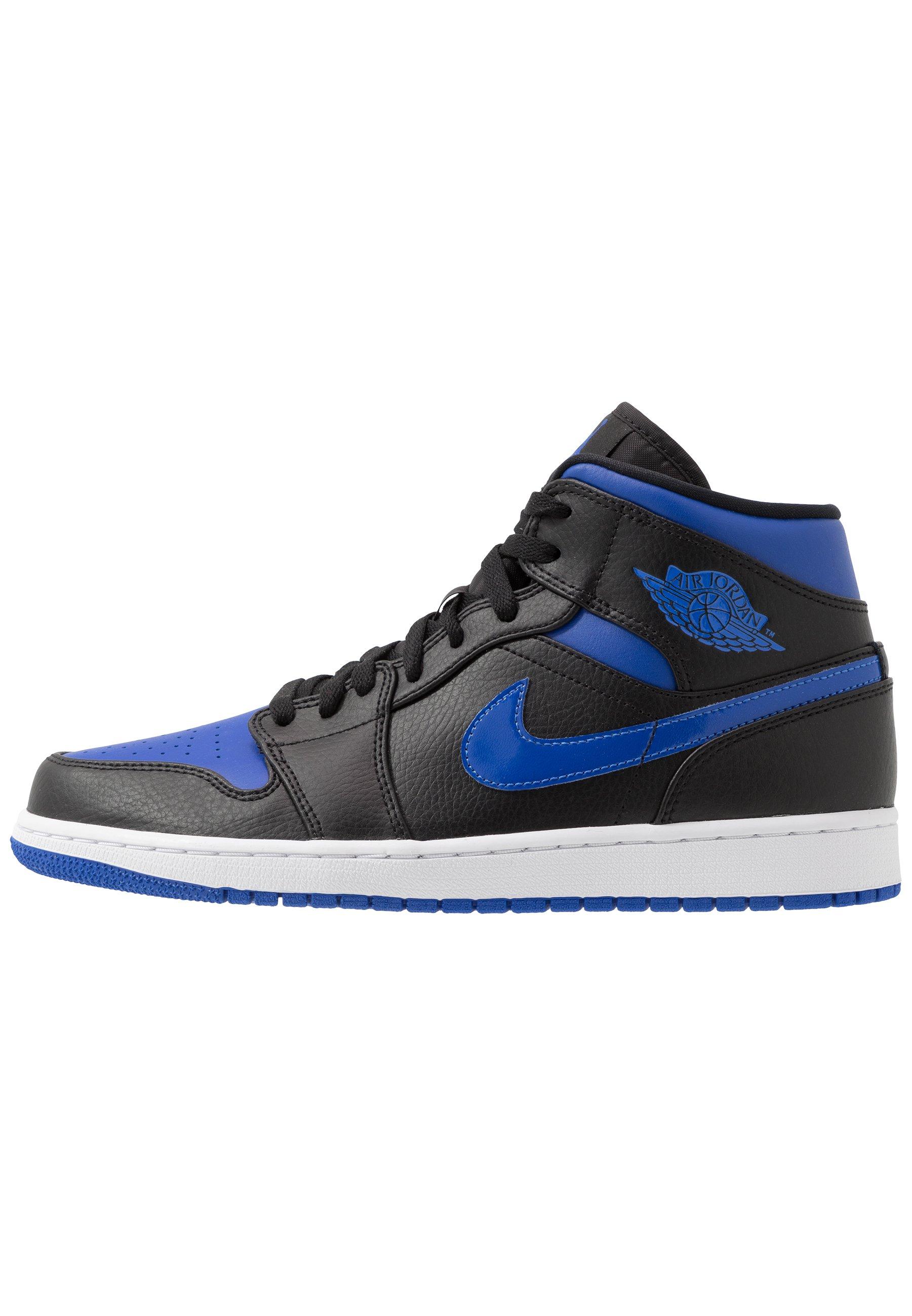 Jordan AIR JORDAN 1 MID - Baskets montantes - black/hyper royal ...