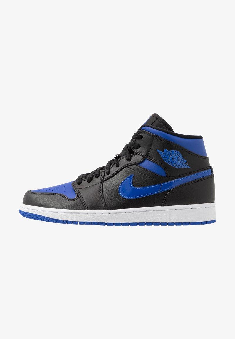 Jordan - AIR 1 MID - Zapatillas altas - black/hyper royal/white