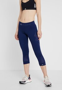 adidas by Stella McCartney - ESSENTIALS SPORT CLIMALITE 3/4 LEGGINGS - 3/4 sports trousers - dark blue - 0