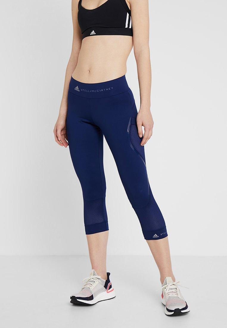 adidas by Stella McCartney - ESSENTIALS SPORT CLIMALITE 3/4 LEGGINGS - 3/4 sports trousers - dark blue
