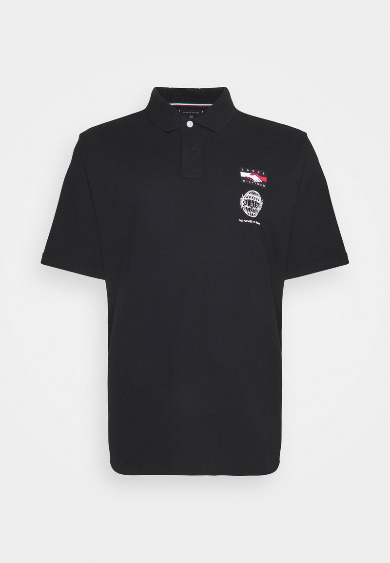Tommy Hilfiger - ONE PLANET SMALL LOGO UNISEX - Polo - black