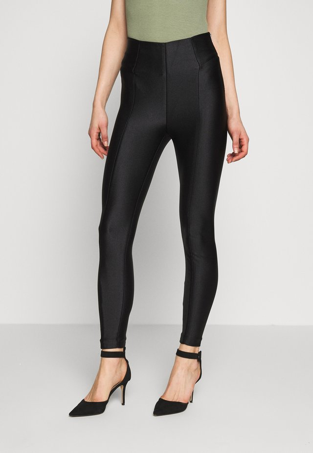 DISCO PANT SCUBA - Trousers - black