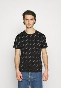 Calvin Klein Jeans - LOGO UNISEX - Print T-shirt - black - 0