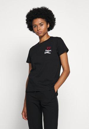 FOREVER - T-shirt z nadrukiem - black