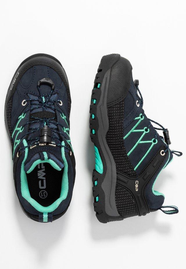 KIDS RIGEL LOW SHOES WP UNISEX - Hiking shoes - blue/aqua mint