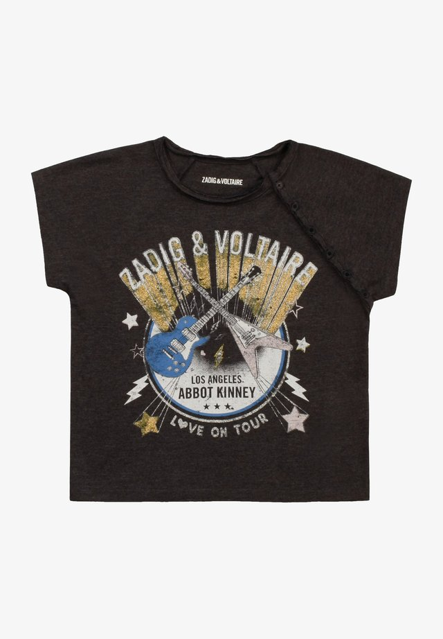 T-shirt imprimé - ardoise chinee