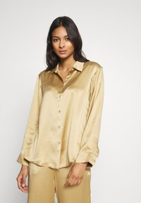 ASCENO - THE LONDON TOP - Pyjama top - antique gold - 0