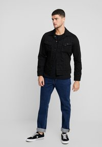 Lee - SLIM RIDER - Denim jacket - black rinse - 1