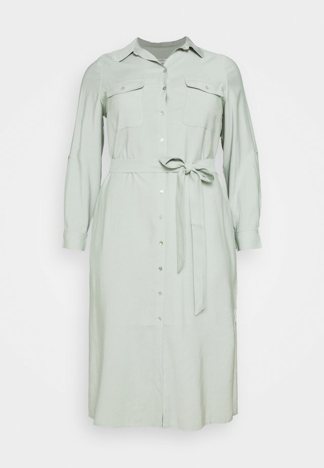 SEPS SHIRT DRESS - Shirt dress - soft sage