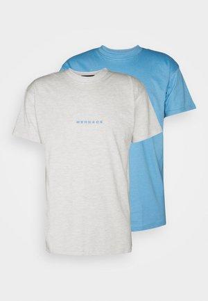 ESSENTIAL REGULAR 2 PACK UNISEX - T-shirt imprimé - blue