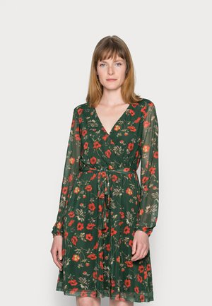 PRINTED DRESS - Day dress - green/multi-coloured