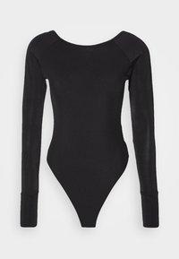 MELAM BOAT SLIM - Long sleeved top - black