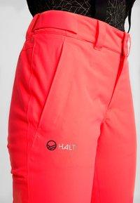 Halti - PUNTTI SKI PANTS - Snow pants - neon fiery coral - 5