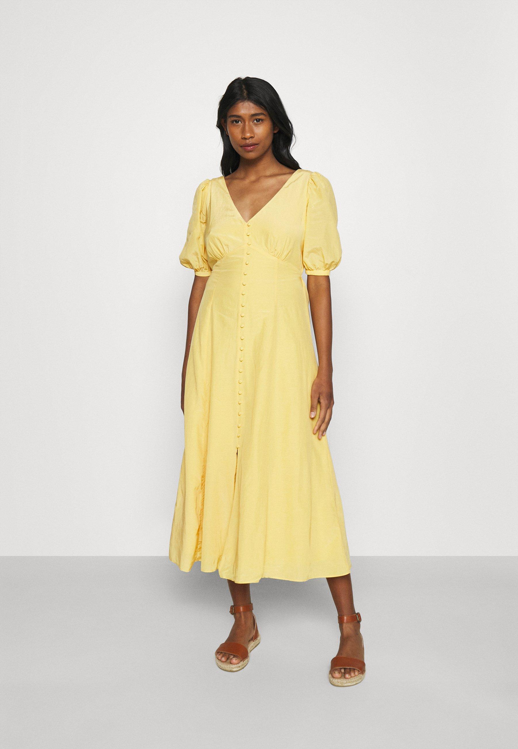 Women BELLE PUFF SLEEVE MIDI DRESS - Day dress