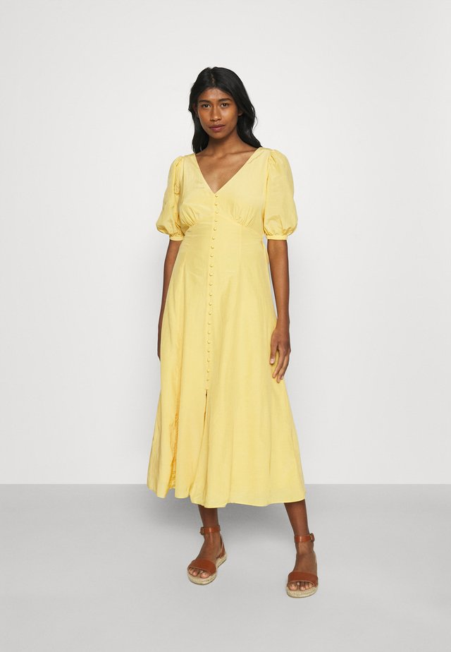 BELLE PUFF SLEEVE MIDI DRESS - Sukienka letnia - soft mango