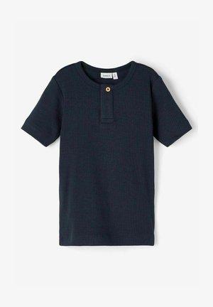 SLIM FIT GERIPPT - T-shirt basic - dark sapphire