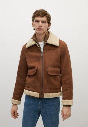 CLAUDE - Faux leather jacket - cognac