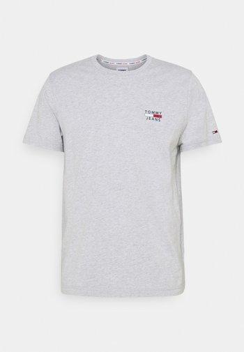 CHEST LOGO TEE - Print T-shirt - grey