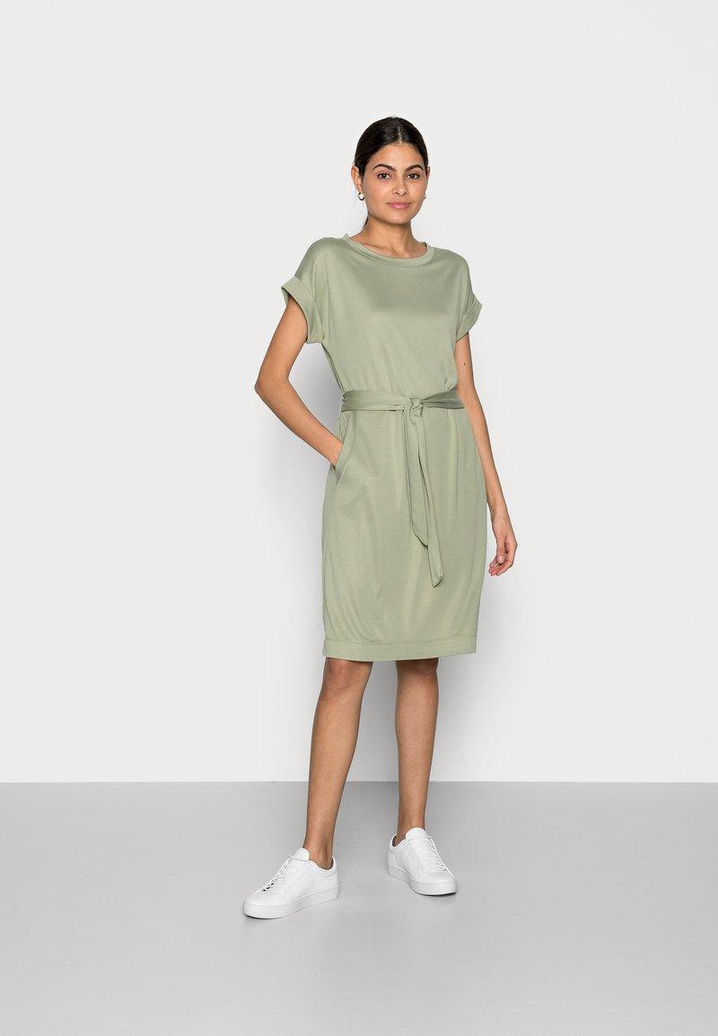 Esprit - STRUC DRESS - Shift dress - light khaki