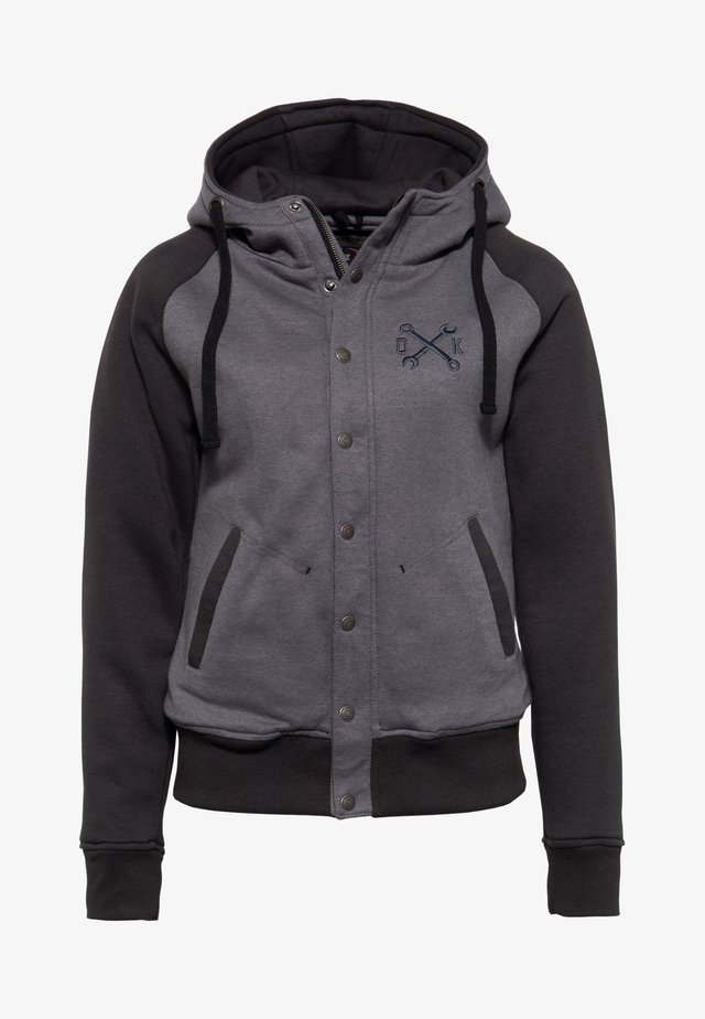 Zip-up hoodie - hellgrau